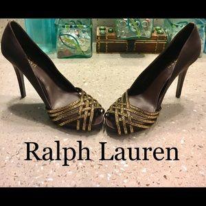 Ralph lauren Balina satin heels